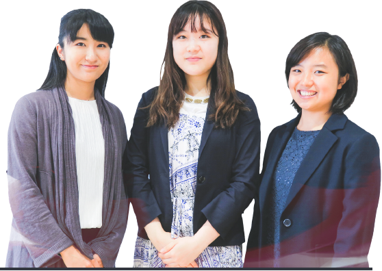 岡田さん、梅木さん、山口さん