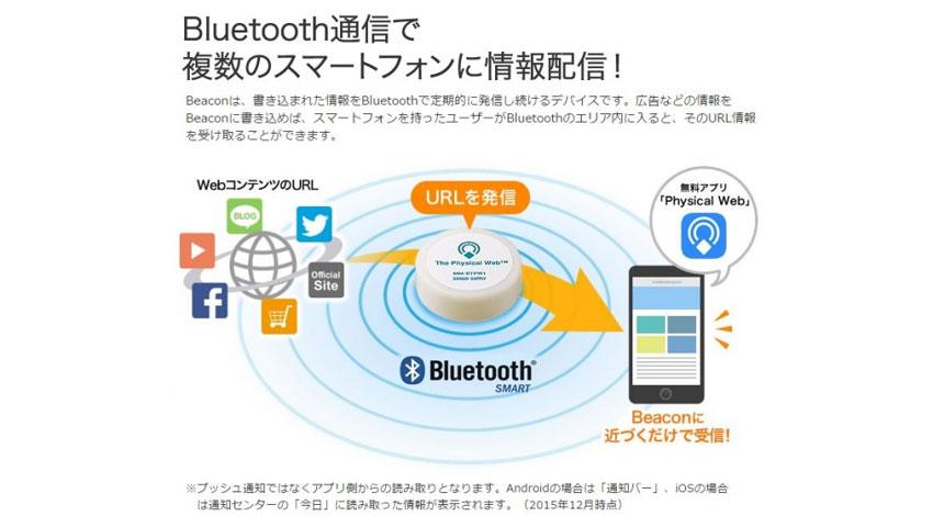 サンワサプライ、Bluetooth通信で半径100m以内にある複数台のスマートフォンに情報を配信できる「Physical Web(TM)」対応ビーコンを発売