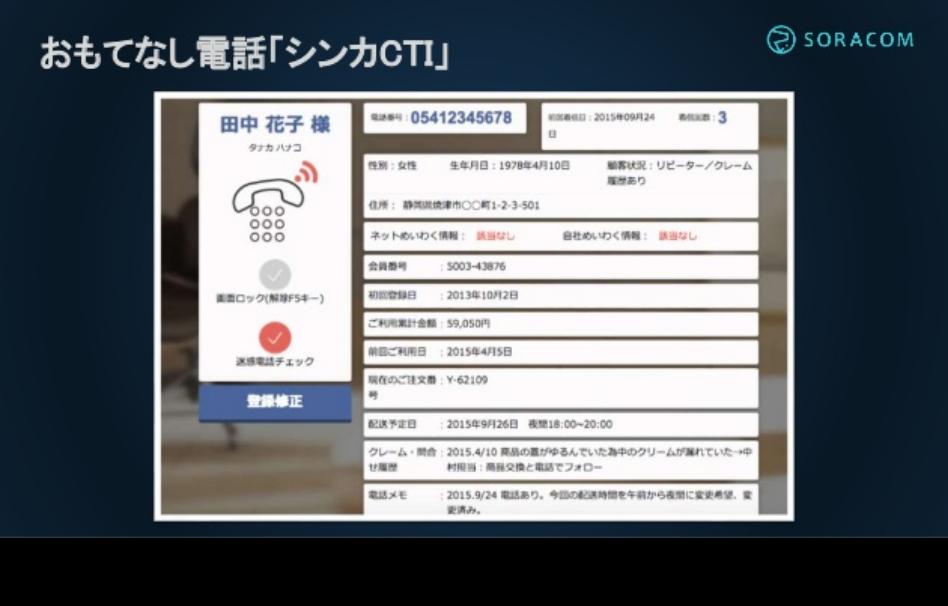 シンカCTI画面イメージ