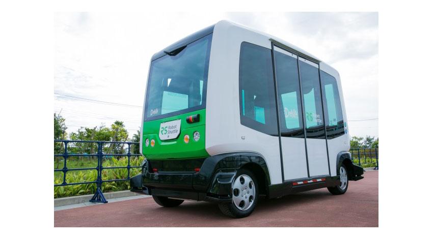 イオン、無人運転バス「Robot Shuttle」の試験運行開始