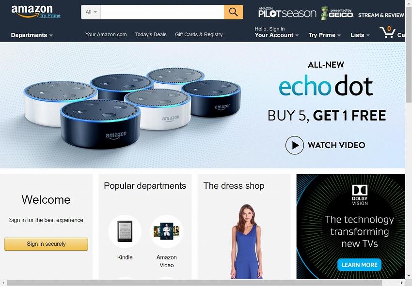 アマゾン 、Alexa のスキルは3,000以上に対応