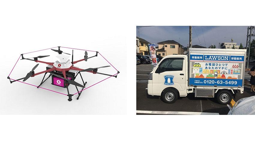 楽天とローソンが協業、ドローン配送と移動販売を組み合わせた商品配送を福島県南相馬市で実施