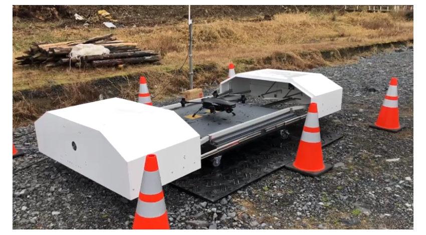 センシンロボティクス、フジタの建設現場で完全自動運用型ドローンシステムを活用した安全確認・警備監視の実証実験を実施