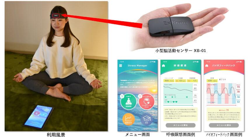 NeU、超小型脳活動センサーによりストレス軽減をサポートするアプリを開発