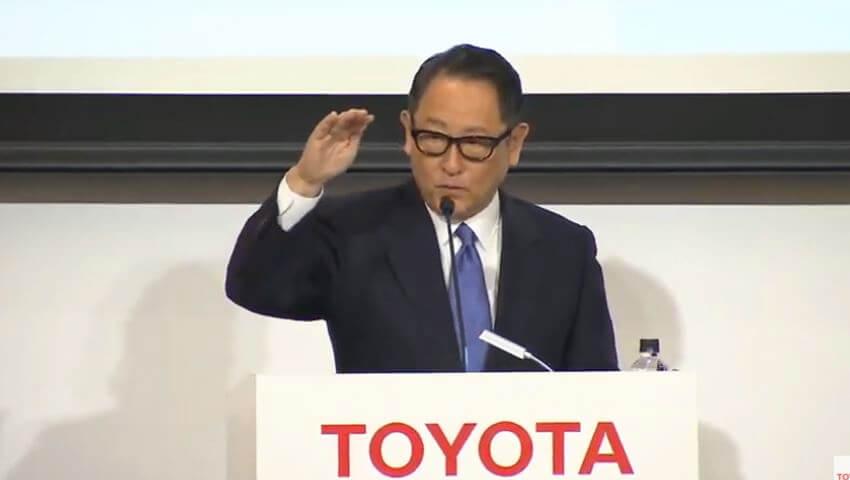 トヨタ 代表取締役社長 豊田章男氏