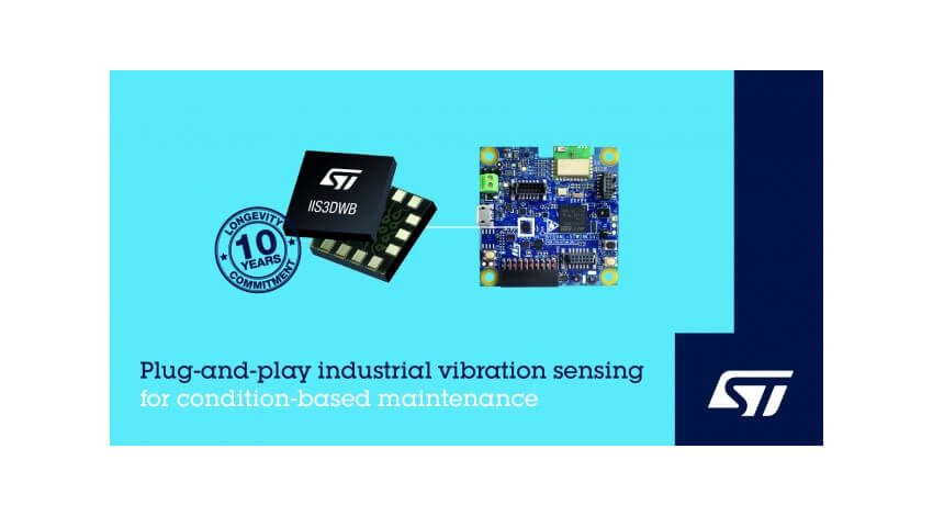 STマイクロエレクトロニクス、Industry 4.0の実現に向けた振動検知ソリューションを提供開始