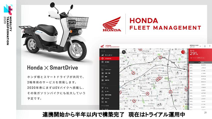B2B向けコネクテッドバイクサービス「Honda FLEET MANEGEMENT」