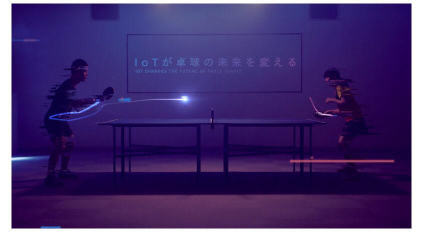 京セラと慶應義塾大学、3軸水晶ジャイロセンサーを活用して卓球ラケットの角度や軌道を可視化するシステム「IoT on Table Tennis」を開発