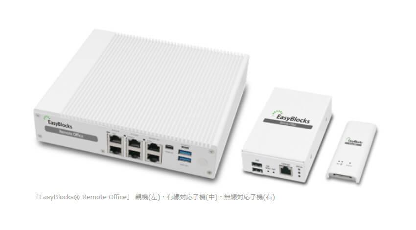 ぷらっとホーム、置くだけでリモートオフィス環境になる「EasyBlocks Remote Office」に無線対応子機を追加