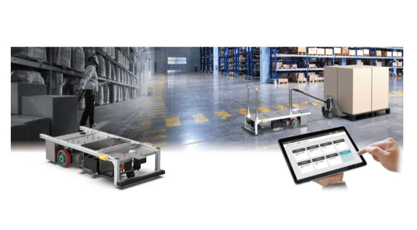 シャープ、製品や荷物を無人で搬送する自動搬送装置「AGV」の新開発モデルを受注開始