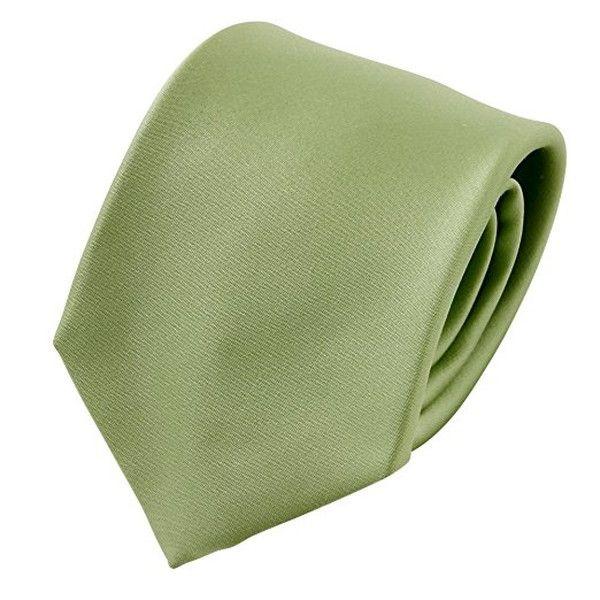 Ozie Sette Piega Plain Tie, Green