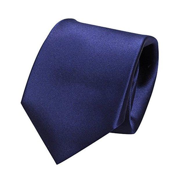 Ozie Sette Piega Plain Tie, Navy