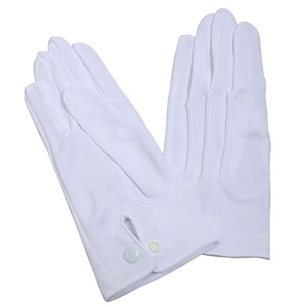 Ozie Gloves for Formal Occasions, White