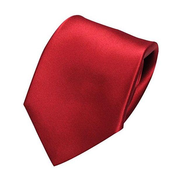 Ozie Sette Piega Plain Tie, Red