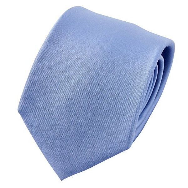 Ozie Sette Piega Plain Tie, Sax Blue