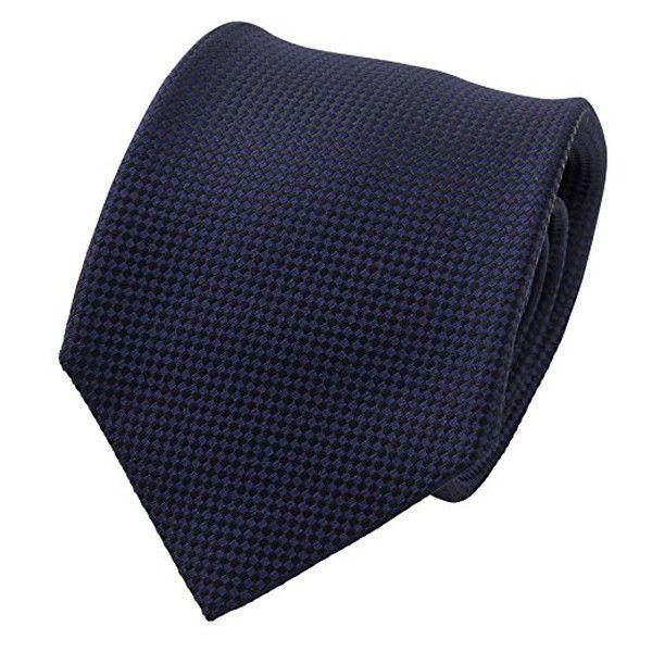 Ozie Sette Piega Plain Tie, Navy Blue