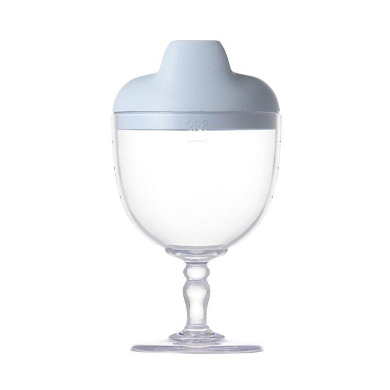 Reale Series Wine glass shape cup/Sommelier spout color: blue (wine glass lid)
