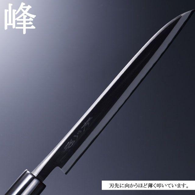 Japanese kitchen knife Butcher knife 180mm Double-edged Chozaburo Tsubamesanjo Top quality kitchen knife handmade by the artisan