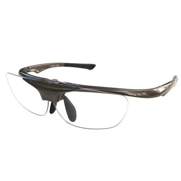 HANELENS Flip-Up Type Reading Glasses Gun Metal FU-01, power of lens:  2.5
