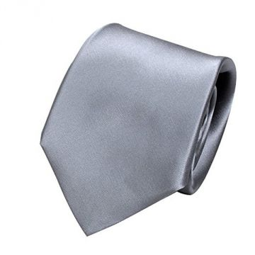 Ozie Sette Piega Plain Tie, Silver