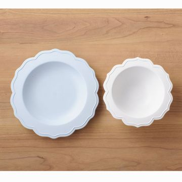 Reale Series Bowl & small pink plate/chef set with sucker lid