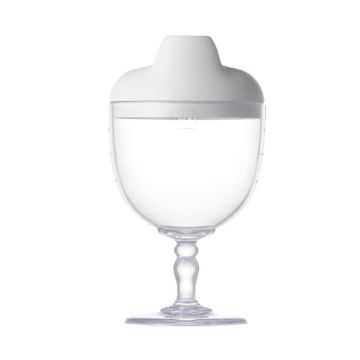Reale Series Wine glass shape cup/Sommelier spout color: white (wine glass lid)