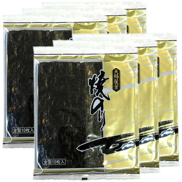 Toasted Horoniga Nori Seaweed, 10 sheets x 6 packs