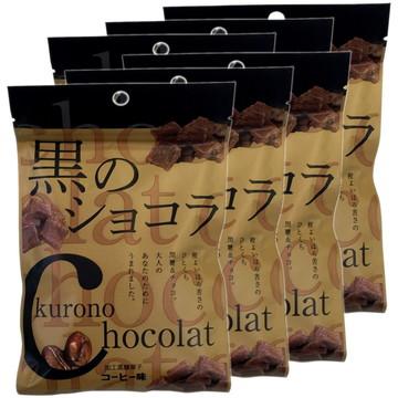 Coffee-flavored Dark Chocolate with Okinawan Sugar, 40g x 6 packs