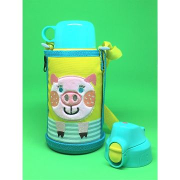 Tiger Stainless bottle 2way(Cup & Direct) MBR-B06GYP Pig