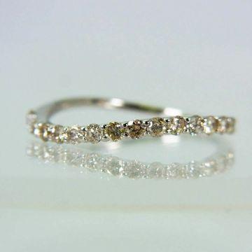 【New】 Pt 900 Diamond Ring USsize6.0[f216-1]