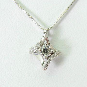 [Pre] K18 Diamond Pendant [f216-5]