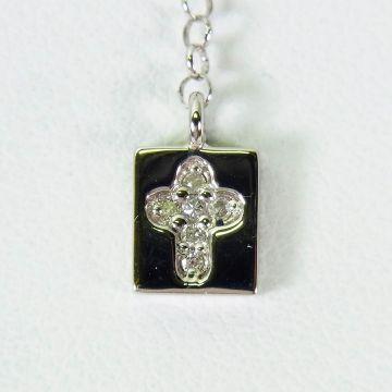 [Pre] Platinum Diamond Pendant [f208-9]