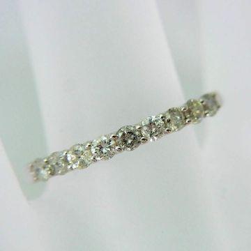 【New】 K10 White Gold Diamond Ring USsize5.75[f216-2]