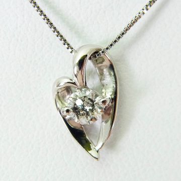 [Pre] Platinum Diamond Pendant [f218-3]