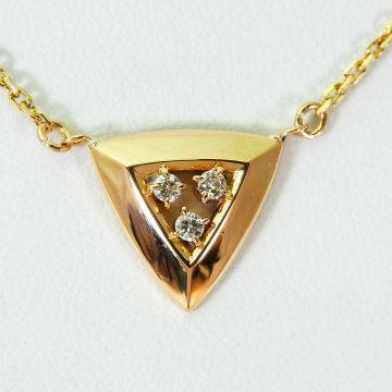 [Pre] K18 Diamond Pendant [f209-2]
