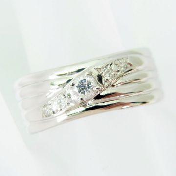 PT900 Diamond Ring USsize6.0 [f 222-4]