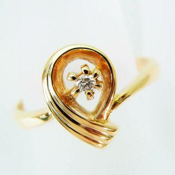 [Pre] K18 Diamond Ring USsize6 [f208-7]