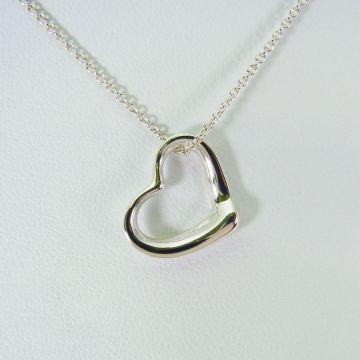 [Pre] TIFFANY / Tiffany 925 Open Heart Necklace [f300-9]