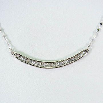 [Pre] K18WG Diamond Necklace [f209-3]
