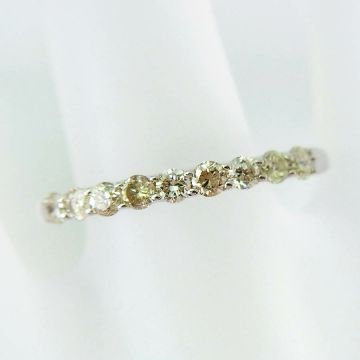 [New] K10 white gold diamond ring USsize5.75 [f218-6]