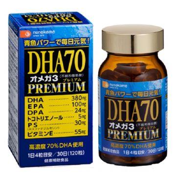 nunokame DHA70 OMEGA3 Premium 【120Capsules】 ★DHA・EPA・DPA★