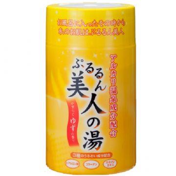 Pururun Biyji-no-Yu [Alkaline hot spring ingredients] ★ Hyaluronic acid ★ Collagen ★ Chamomile extract (Yuzu scent)