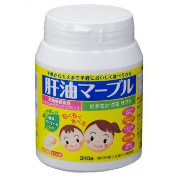 KANYU MARBLES ★Shark Liver Oil Marbles (gummy candies) ★ / Pineapple & Orange flavor