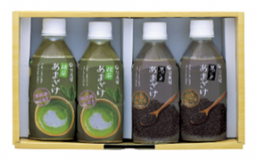 Horaiya Matcha and Black Sesame Amazake 4 Bottles Pack