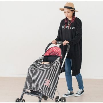 Striped Warm Cotton Wadded Baby Cape