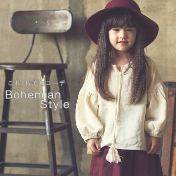 Bohemian Style Long-Sleeved T-Shirt with Tassels