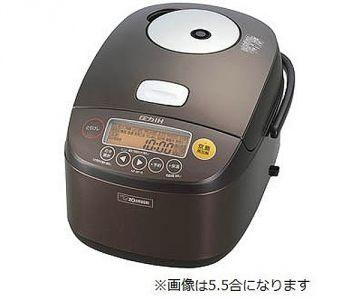 Zojirushi IH Rice Cooker Kiwame-daki NP-BF18, 10 Cups, Dark Brown