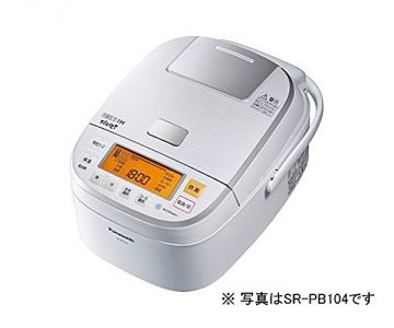 Panasonic Japanese Rice Cooker Odori-daki SR-PB184, White