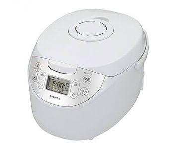 Toshiba Microcomputer Rice Cooker RC-10MFH, 5.5 Cups, White