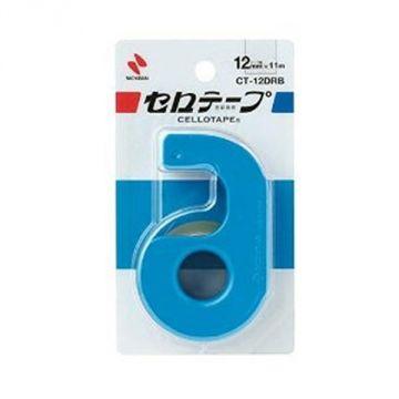 Nichiban Cellophane Tape Komaki with Cutter 19266 CT-12Drb, Blue